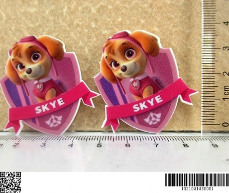 5 x 42MM SKYE FROM PAW PATROL LASER CUT FLAT BACK RESIN HEADBANDS HAIR BOWS